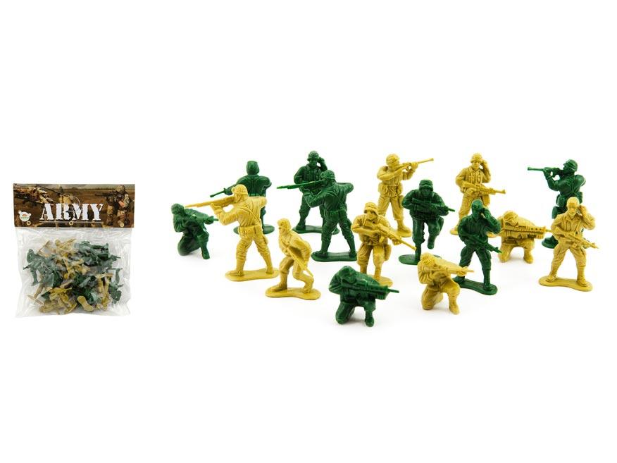 Sada vojaci 2 farby plast CZ design na karte 18x19,5cm