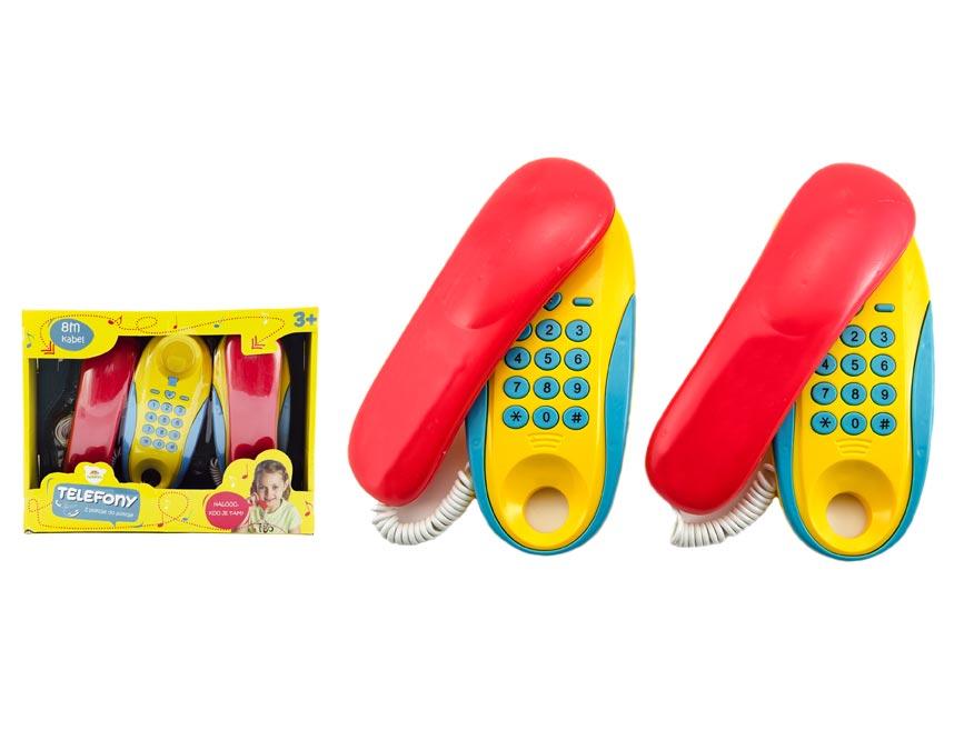 Telefony pokoj - pokoj plast na batérie 2ks vzdálenost 8m v krabici 30x24x7cm