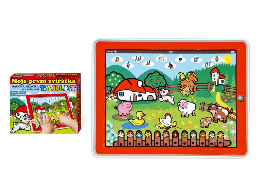 Tablet farma pro najmenších Moje prvé zvieratká 24x19x1,5cm na batérie so svetlom a zvukom v krabičke MPZ