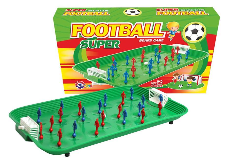 Fotbal spoločenská hra plast/kov v krabici 53x31x8cm