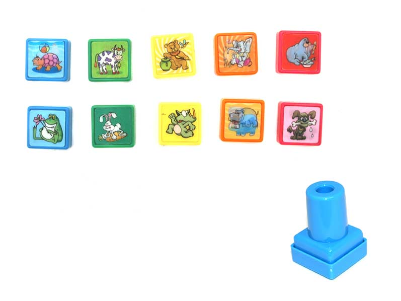 Pečiatka 889225 kreslené zvieratká 2D