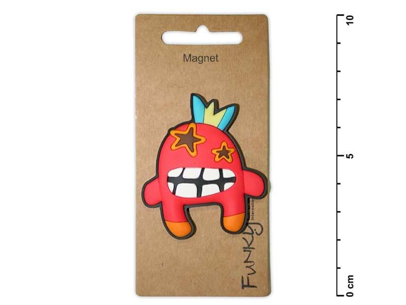 Magnet dekoračný 1431 cca 5 cm - 50 - Príšerka červená