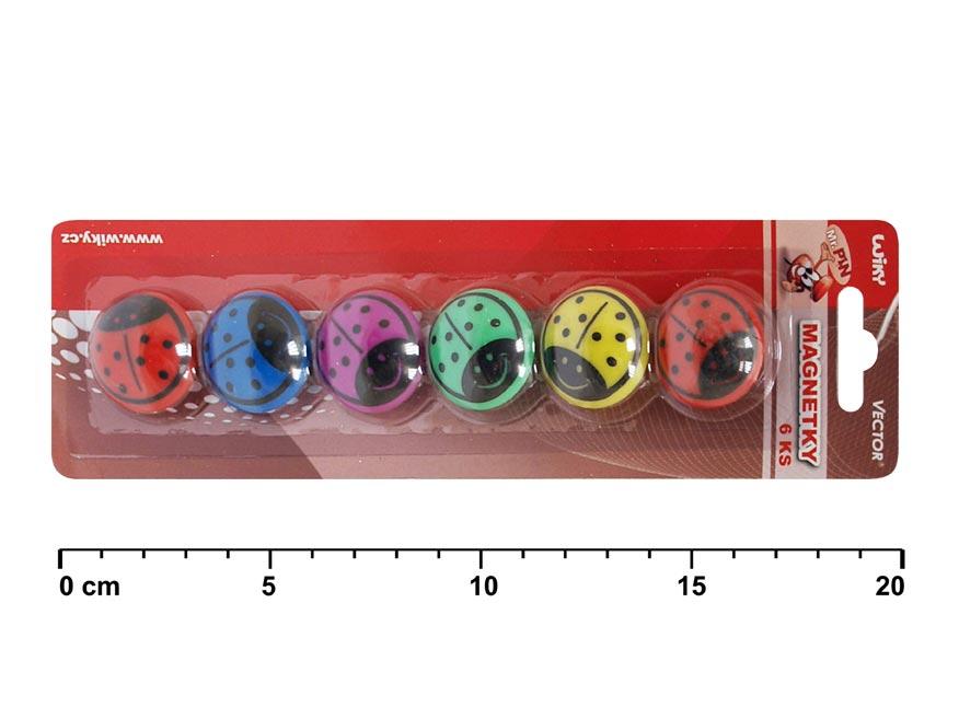 Magnety 816052 lienočka 6ks 30mm