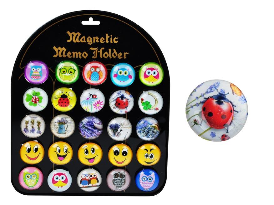 Magnet dekoračný guľatý 3,5cm mix 1
