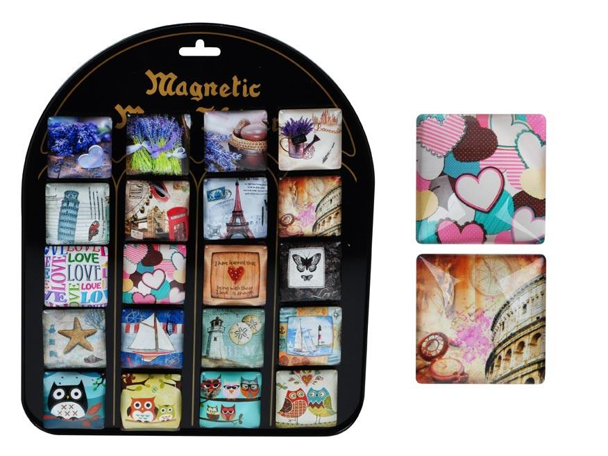 Magnet dekoračný 4x4cm mix 2