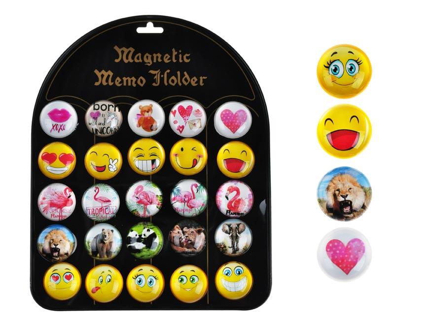 Magnet dekoračný guľatý 3,5cm mix 4