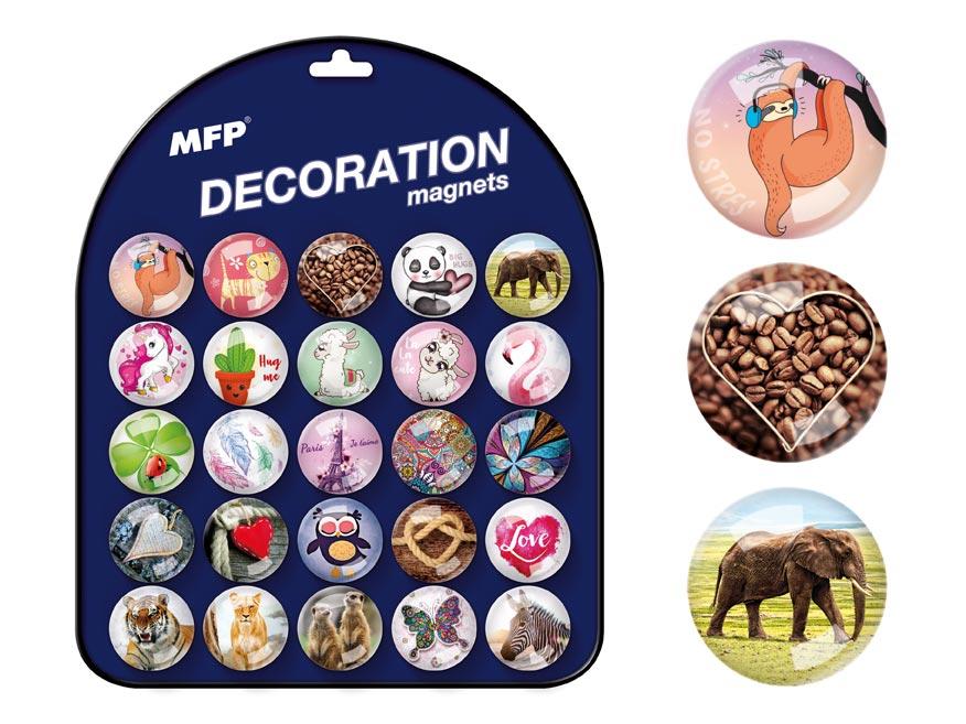 magnet dekoračný guľatý 3,5cm mix č.9 4200283