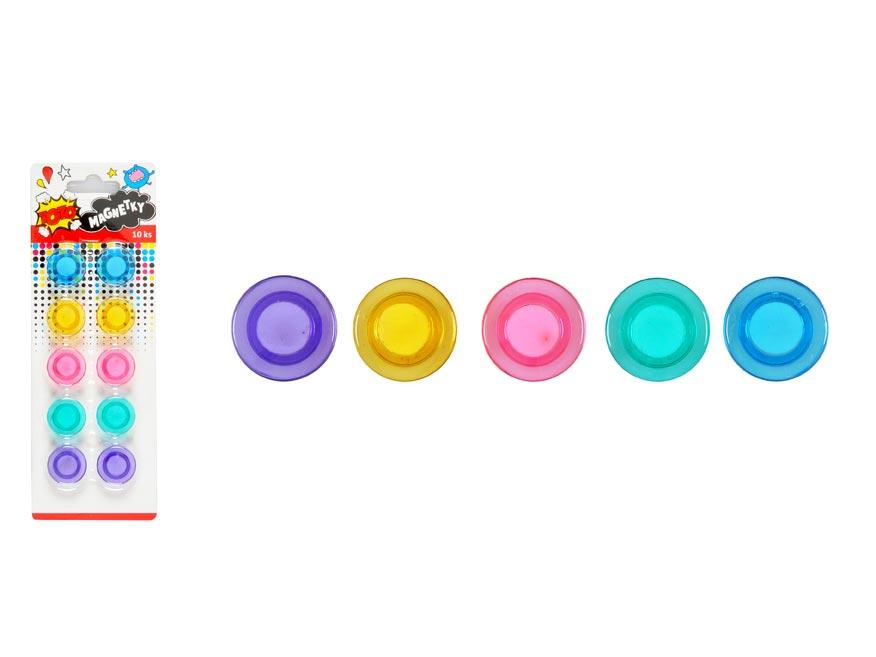 Magnetky W007173 farebné 30mm - 10ks