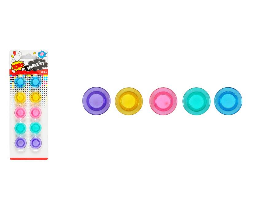 Magnetky W007174 farebné 20mm - 10ks