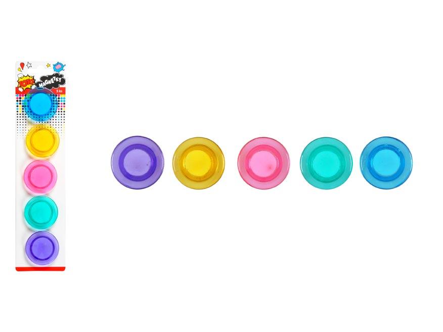 Magnetky W007175 farebné 40mm - 5ks