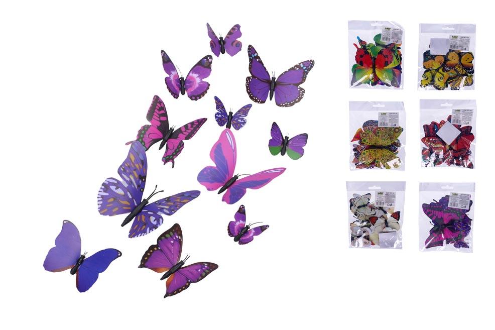 Magnet W011802 Motýľ 12ks