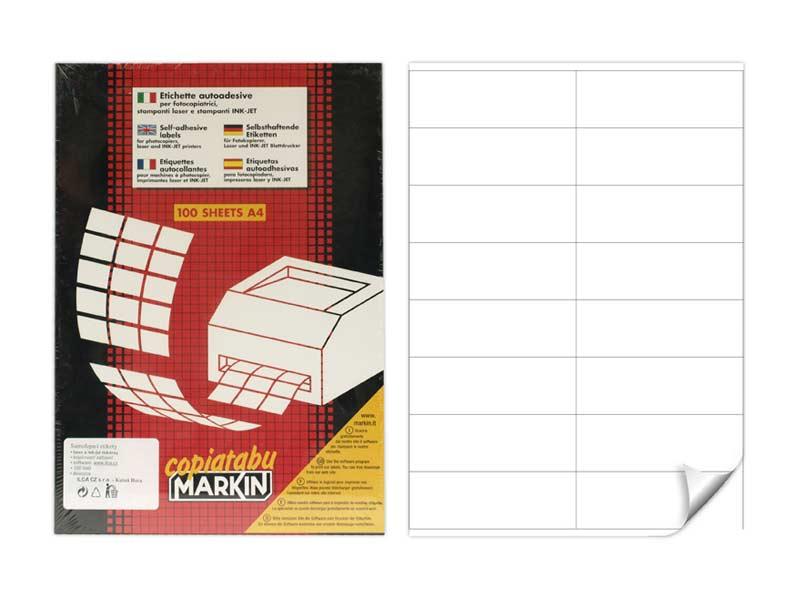 Etikety samolepiace A4 C501  105x36mm 100l