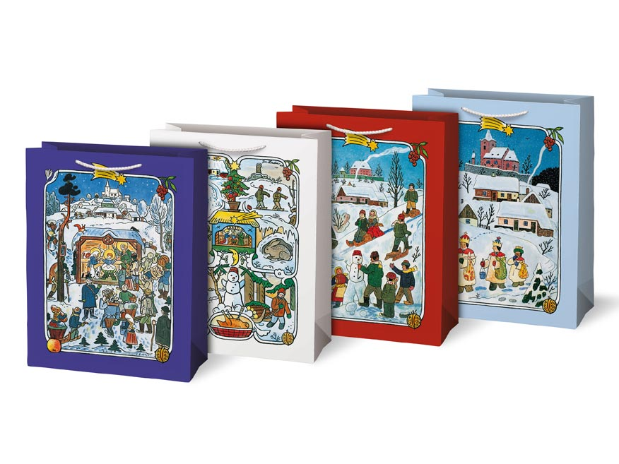 Taška MFP vianočná L LADA mix 1 (260x340x140)