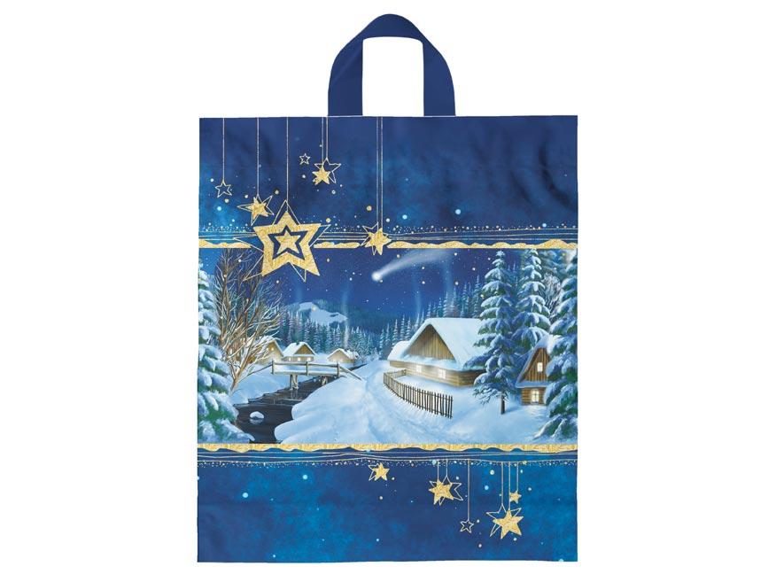 Igelitová vianočná taška vzor 1 40x46x8 (s uchom)