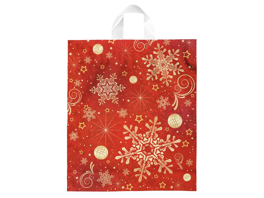 Igelitová vianočná taška vzor 2 40x46x8 (s uchom)