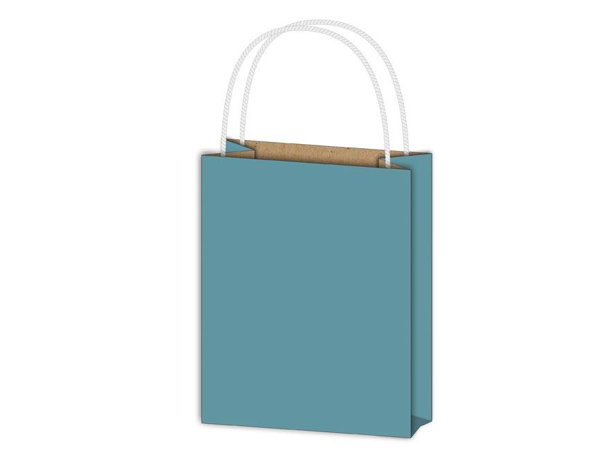 taška darčeková T1 kraft 114x146x64 modrá 5251075