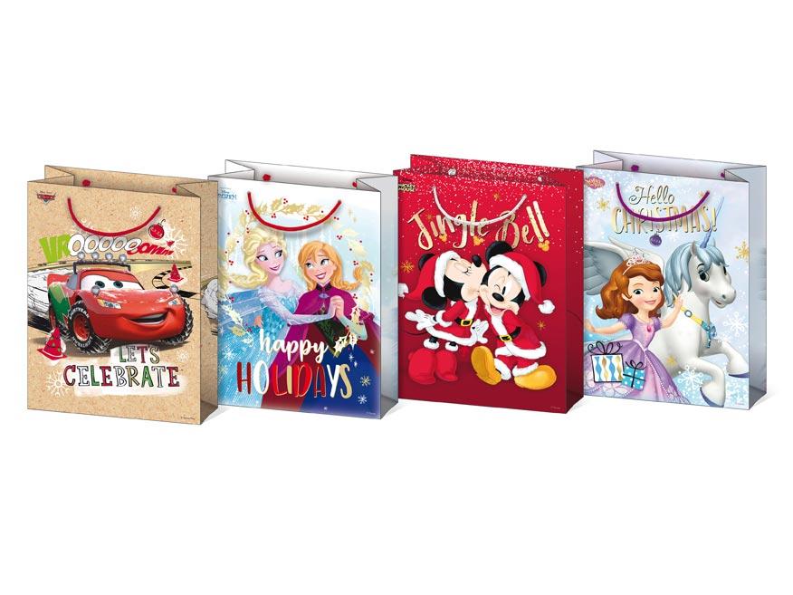 taška vianočná M Disney mix V4 (190x250x90) 5251175