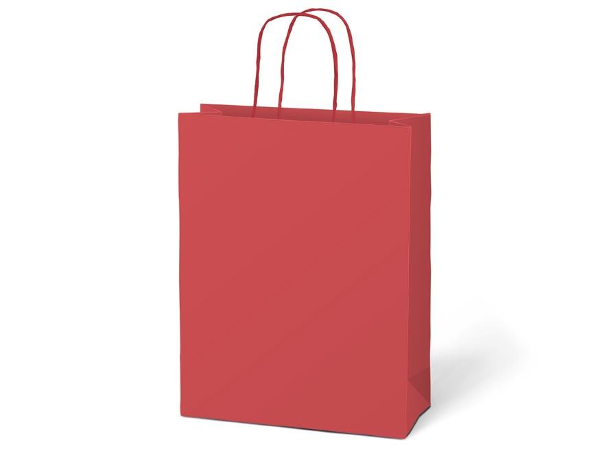 taška darčeková T4 kraft 180x230x100 červená 5251219