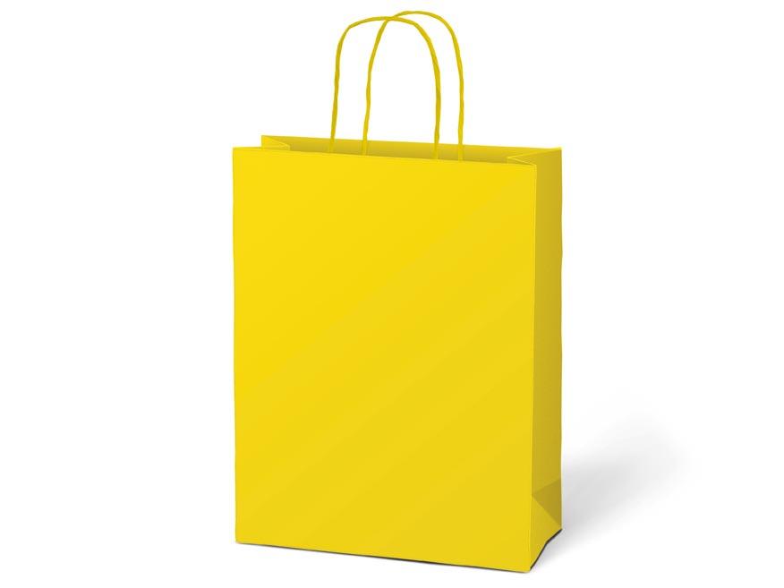 taška darčeková T4 kraft 180x230x100 žltá 5251222