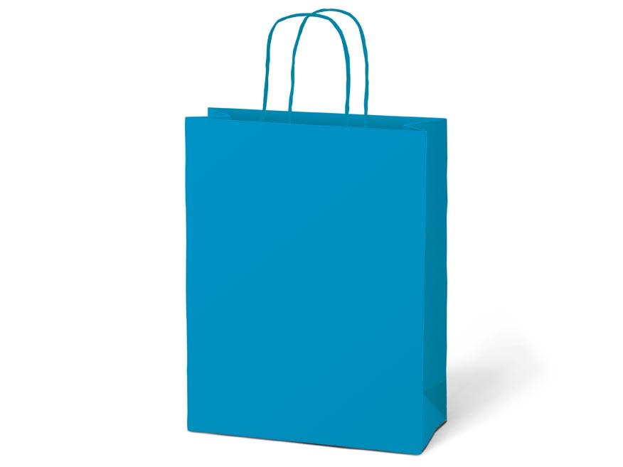 taška darčeková T5 kraft 260x320x100 modrá 5251225