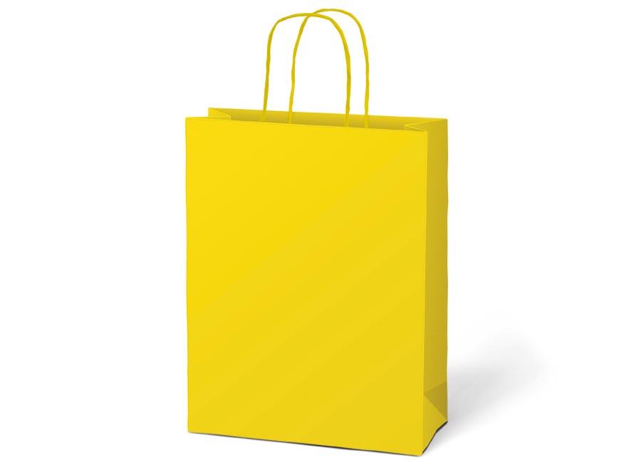 taška darčeková T5 kraft 260x320x100 žltá 5251227