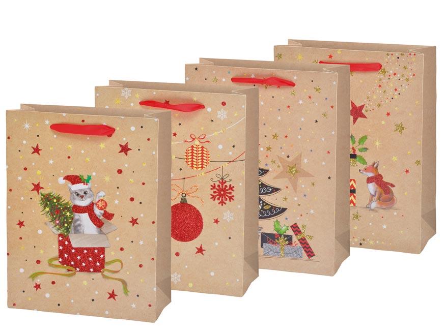 taška vianočná M LUX mix V4 (180x230x100) 5251234