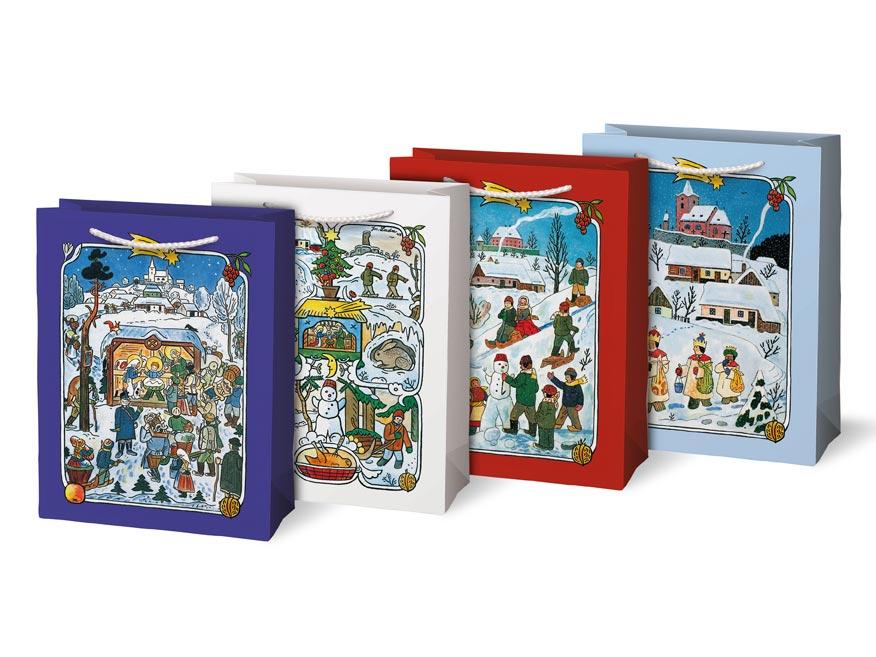 taška vianočná M LADA mix  č.1 (190x250x90) 5251262
