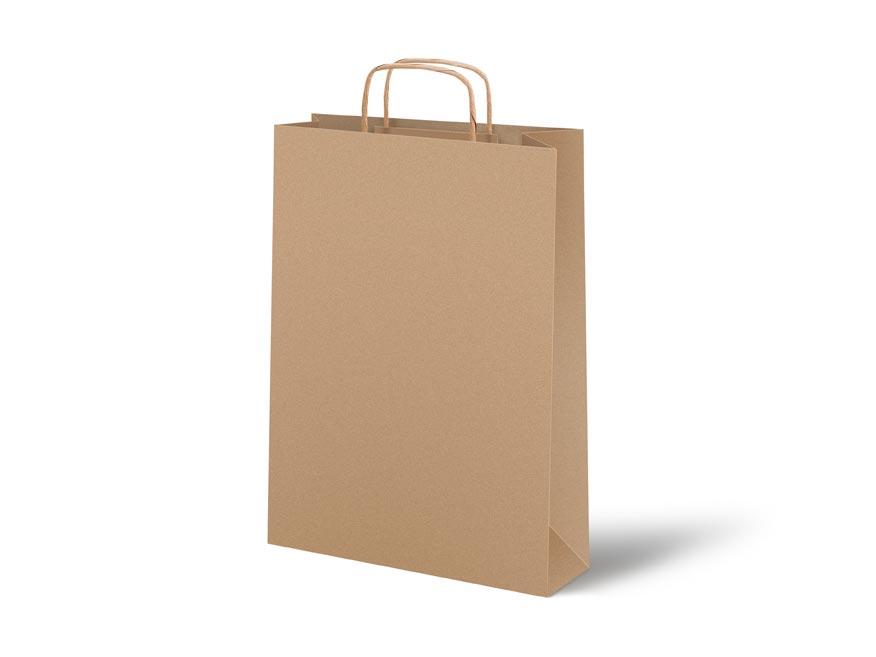 taška papier hnedý s plochým uchom 26x34x12cm 5251321