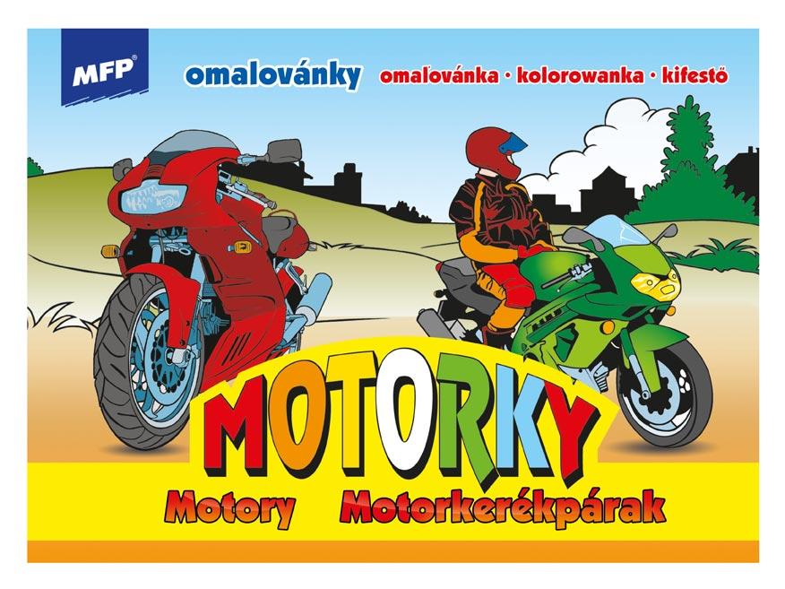 Omaľovánky MFP Motorky