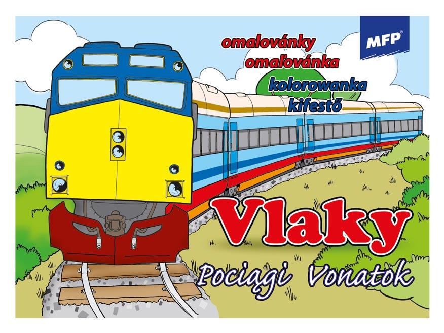 Omaľovánky MFP Vlaky