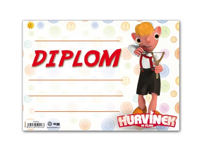 Diplom detský A5 MFP DIP05- H01 Hurvínek