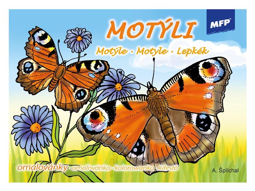 Omaľovánky MFP Motýle