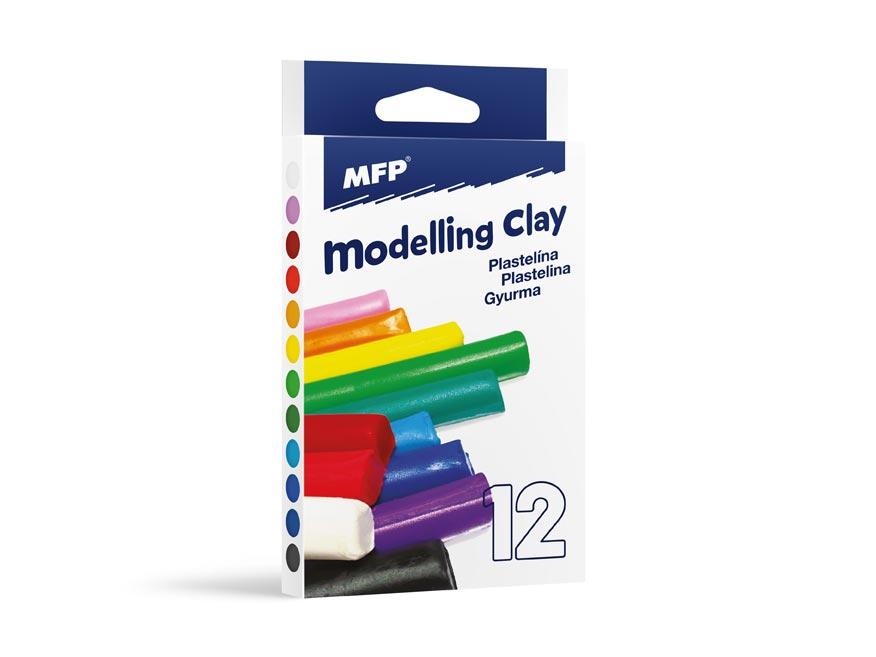 Modelovacia hmota 12 farieb 200g