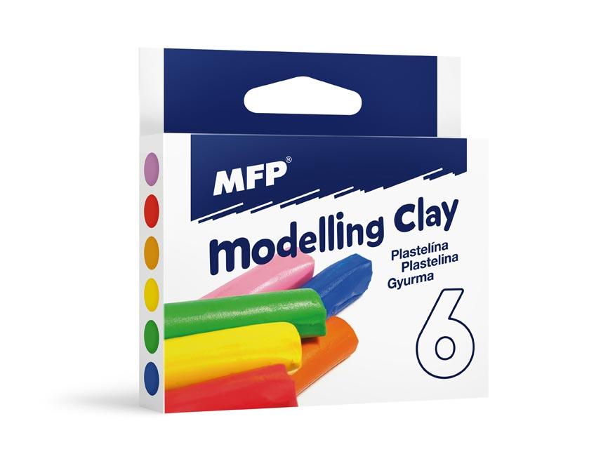 modelovacia hmota  6 farieb 100g 5300749