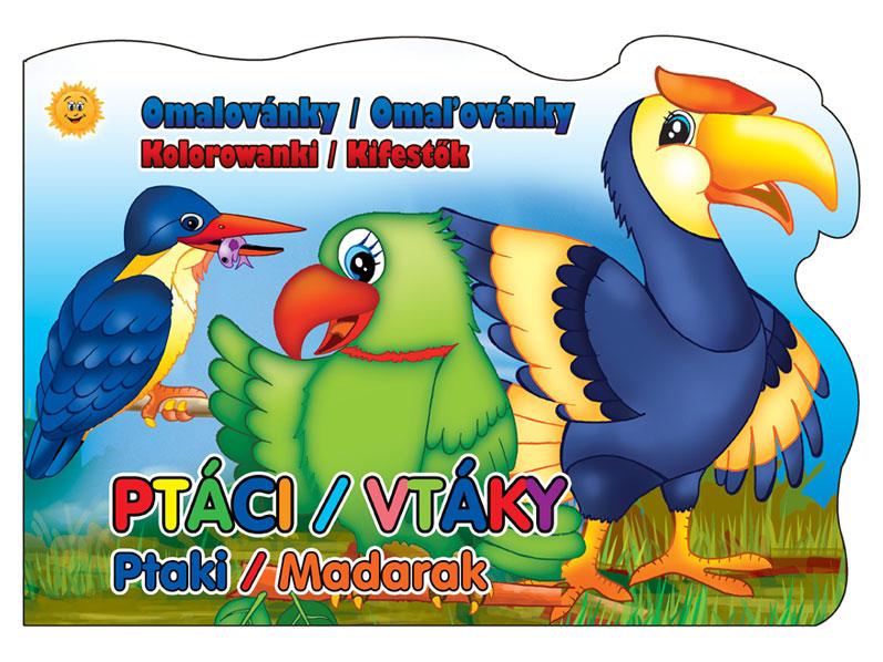 Omaľovánky MFP A4 výsek vtáky 208x290/16s
