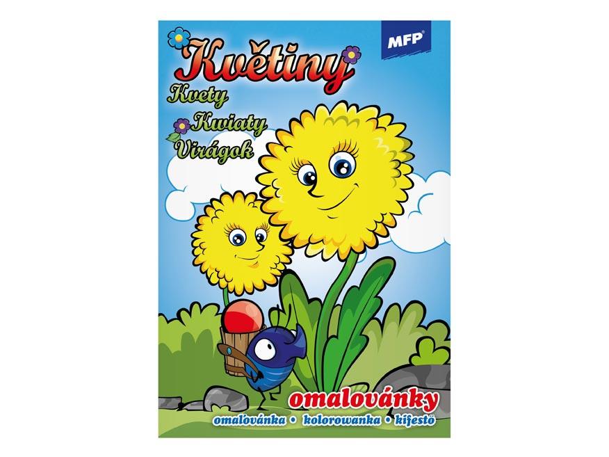 Omaľovánky MFP Kvety