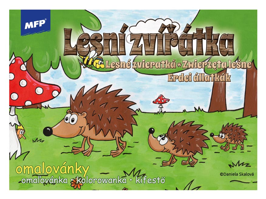 Omaľovánky MFP Lesné zvieratká