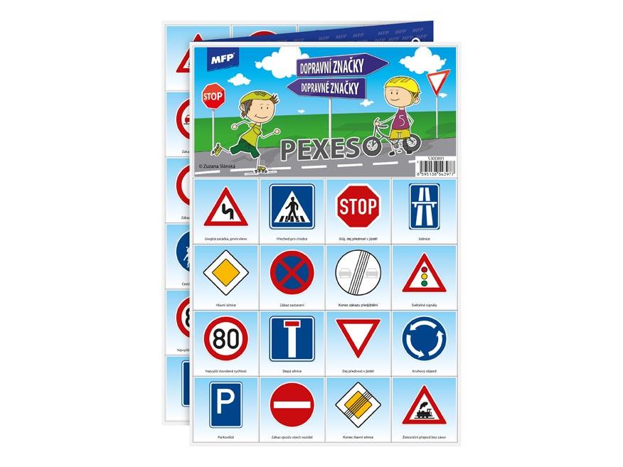 Pexeso MFP 3xA4 Dopravné značky