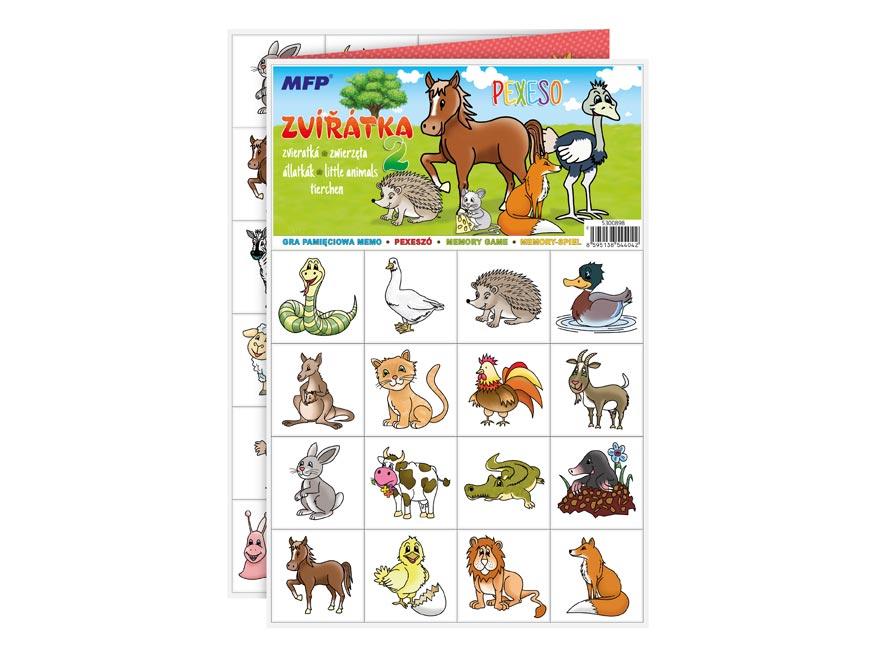 Pexeso MFP 3xA4 Zvieratká 2