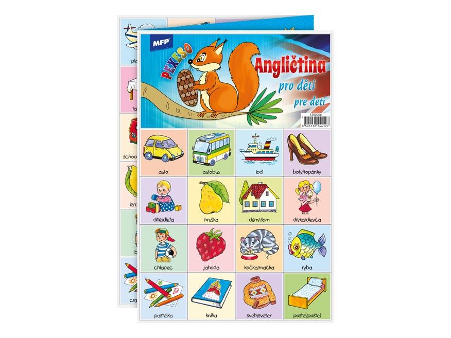 Pexeso MFP 3xA4 Angličtina pre deti