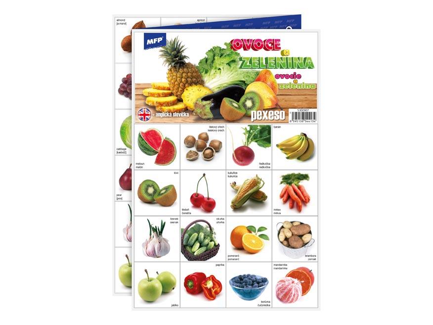 pexeso 3xA4 Ovocie a zelenina 5300907