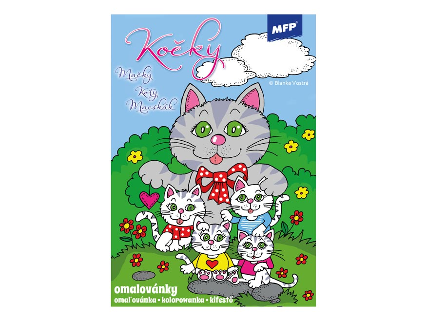 Omaľovánky MFP Mačky