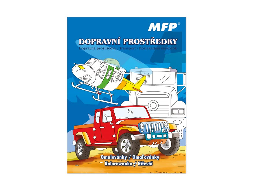 Omaľovánky MFP A4 dopravné prostriedky 4 210x276/32s