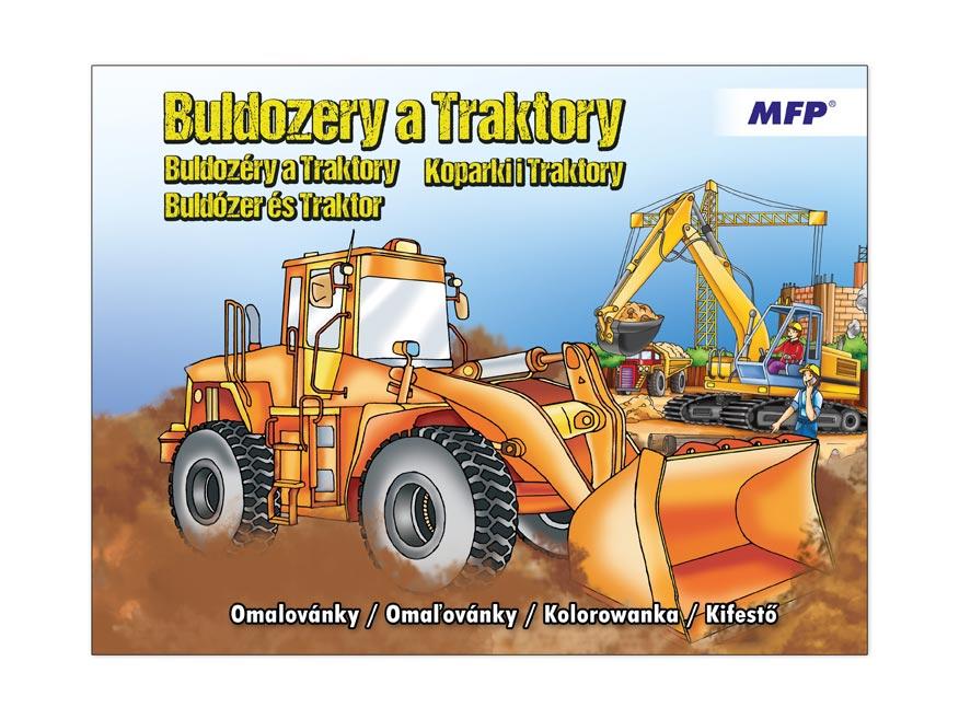omaľovánky A4 Buldozery a traktory 210x276/32s 5300949