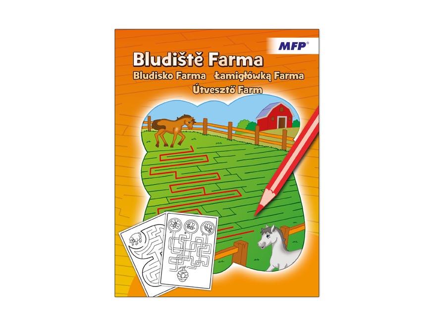 Omaľovánky - bludisko farma 210x276/32s