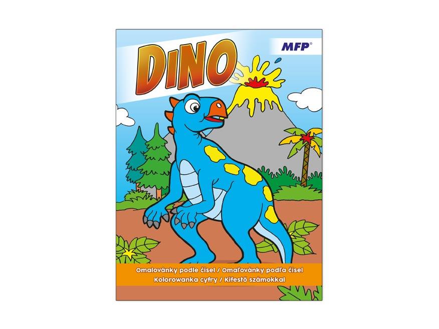 MFP 5300957 omaľovánky A4 podľa čísiel Dino 210x290/32s
