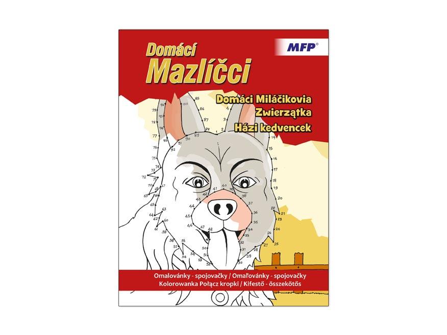 Omaľovánky - spojovačky domáci Maznáčikovia 210x275/32s