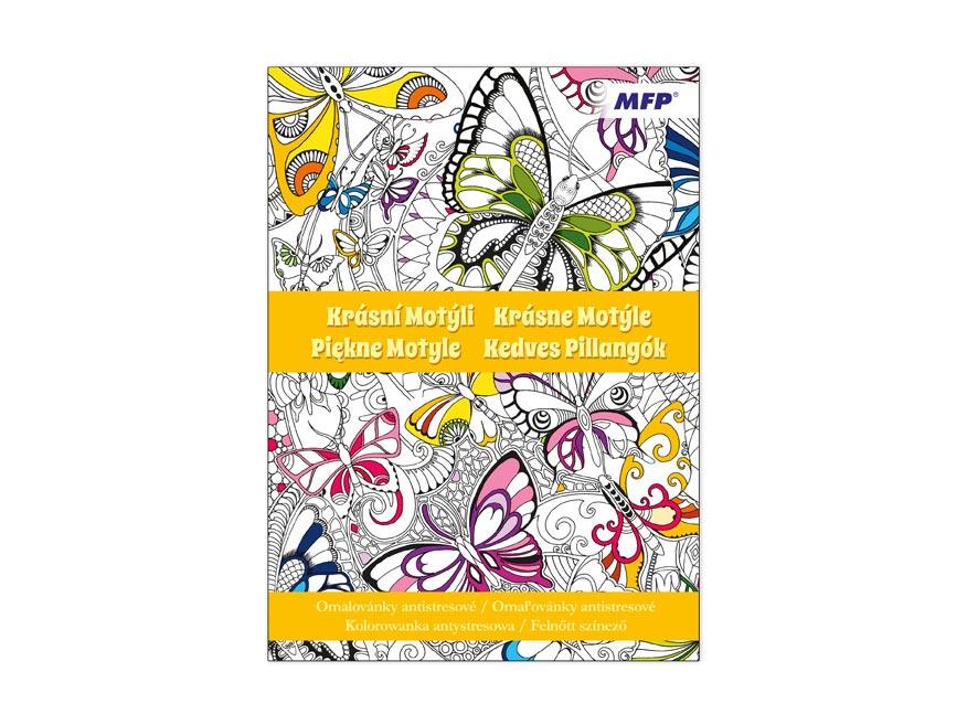 Omaľovánky antistresové Krásní Motýle 210x290/32s