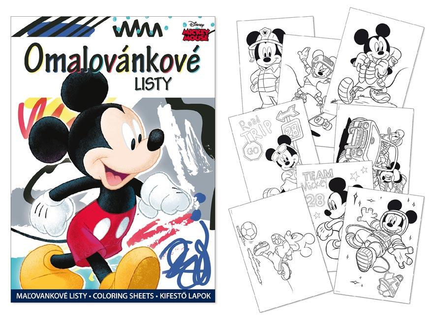 omaľovánky A4 Disney (Mickey) 5300990