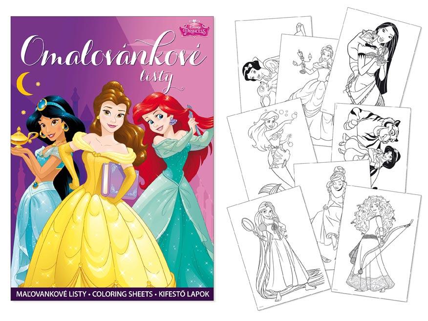 omaľovánky A4 Disney (Princess) 5300992